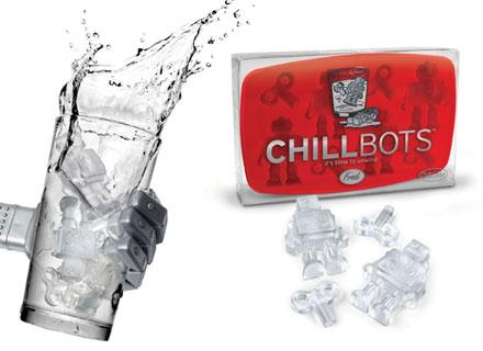 Cubitera de robots para hacer cubitos de hielo frikis