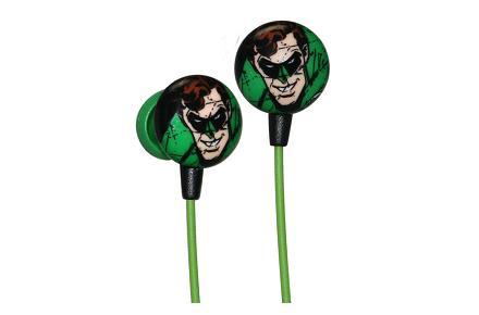 Auriculares con la cara de Green Lantern