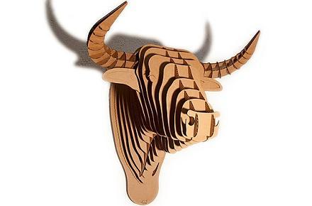 """Cabeza de toro de cartón """"Toro"""""""