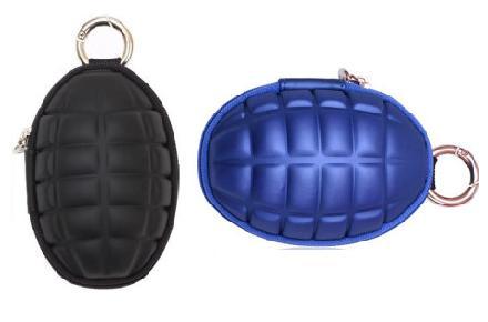 Monedero portallaves con forma de granada de mano