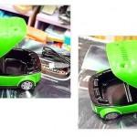 Cenicero extractor USB con forma de coche