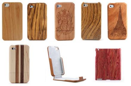 Fundas de madera para iPhone y iPad