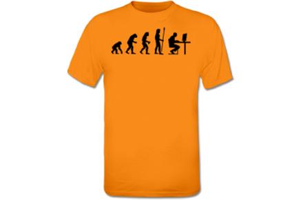 Camiseta evolución del ser humano, ¡La verdad más friki!