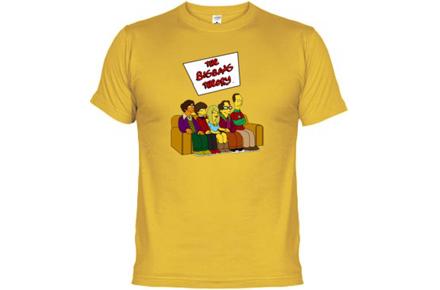Camiseta The Big Bang Theory al estilo de Los Simpsons