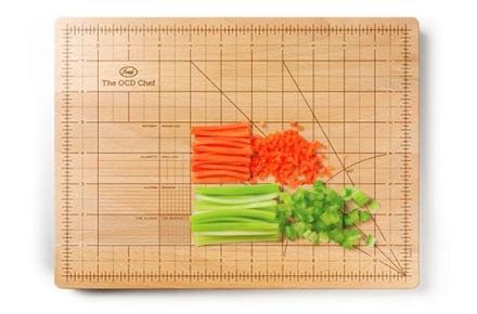 Tabla de cocina reglada y normalizada