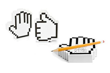 Notas Adhesivas – Manos Pixeladas