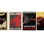 Posters retro de propaganda Star Trek