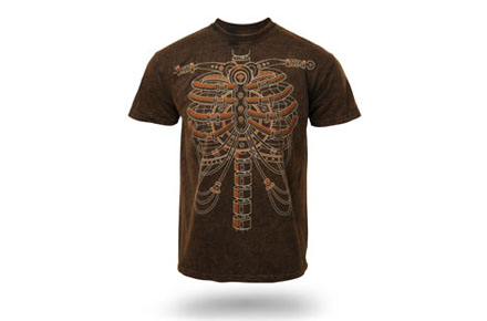 Camiseta Steampunk Skeleton
