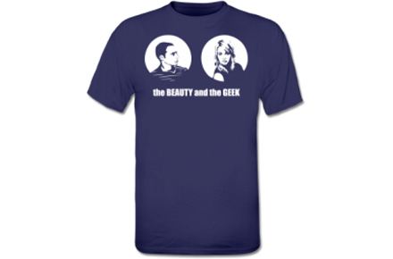 Camiseta The Beauty and The Geek, para los amantes de The Big Bang Theory