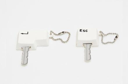 Fundas de llaves con forma de teclas de ordenador
