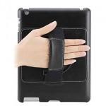 Funda de cuero y soporte para iPad