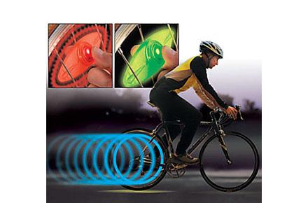 Luz LED de seguridad para ruedas de bicicleta