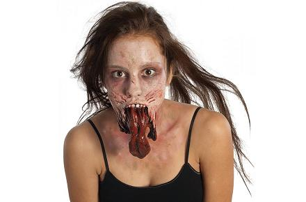 Protesis barbilla zombie de «The Walking Dead»