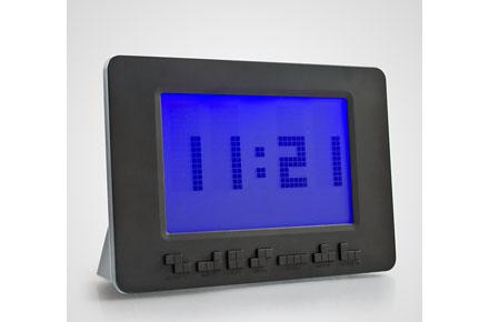 Reloj con fichas de Tetris