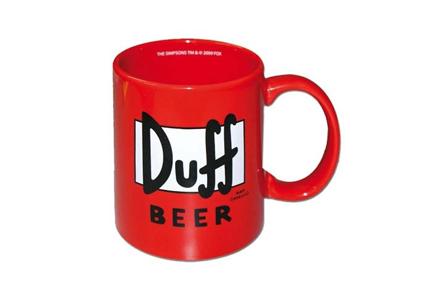 Taza Duff de Los Simpsons, ¡Haz tus cafés más frikis!