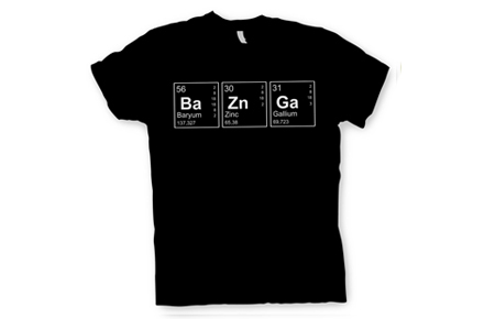"Camiseta de The Big Bang Theory ""Ba-Zn-Ga"""