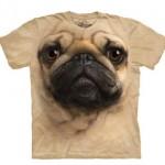 Camiseta con Pug gigante