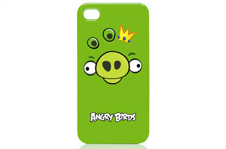 Funda Angry Birds para iPhone 4-4S verde