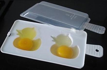 Molde de patitos para microondas, haz tus huevos más divertidos