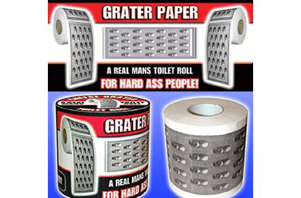 Rollo de papel higiénico con dibujo de rallador de queso