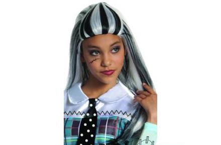 Peluca de Frankie Stein de Monster High, la bisnieta de Frankenstein