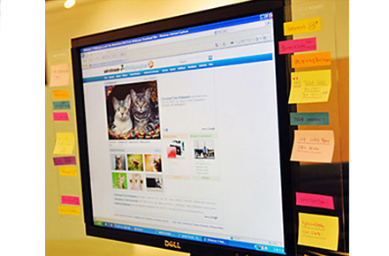 Tablero transparente para post-it