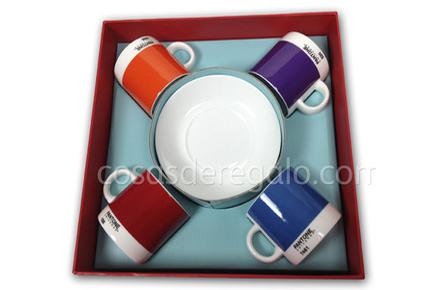 Pack 4 tazas expresso Pantone