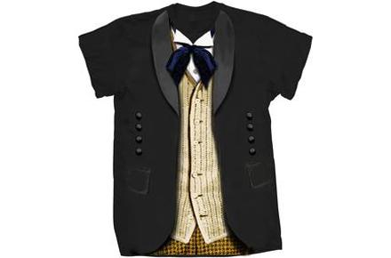 Camiseta del Doctor Who de las primeras temporadas, la verdadera.