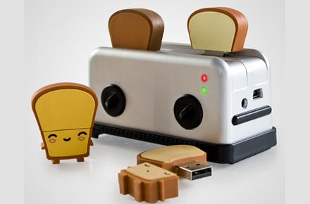 Pack de Tostadora y 4 tostadas con USB