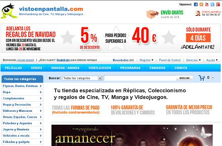 5% de descuento adicional en Visto en Pantalla durante 4 días