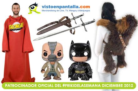 El último #FrikiDeLaSemana del año llega con 4 regalazos de Visto en Pantalla para sortear en Diciembre