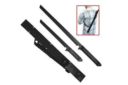 Espadas ninja con inscripción