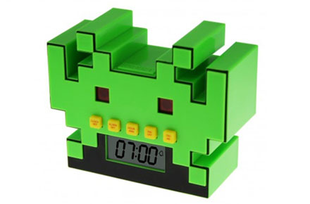 Reloj despertador Space Invaders
