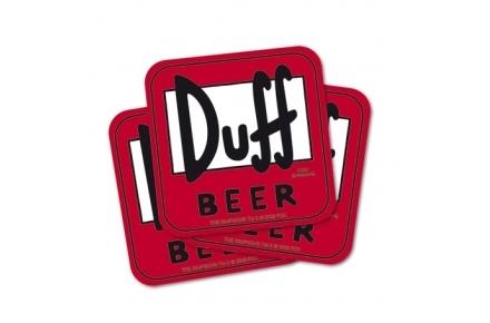 "Pasavasos de cartón ""Duff beer"""