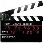 Reloj claqueta de cine