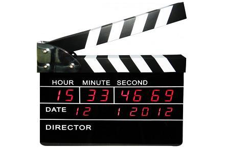 Reloj claqueta, para los frikis del cine