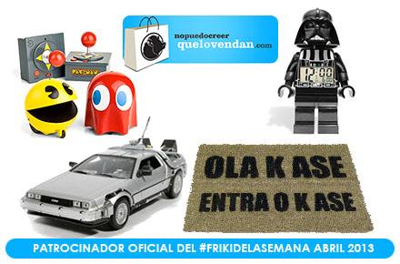 Más sorteos de regalos frikis en nuestro #FrikiDeLaSemana de abril con QueLoVendan
