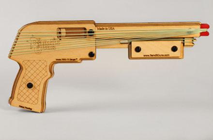 Pistola lanzadora de gomas