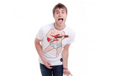 Camiseta de bebé guitarrista