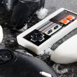 Pastillas de jabón con forma de mando de videoconsola
