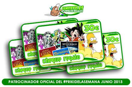 El FrikiDeLaSemana de junio viene con 4 sorteos de cheques regalo gracias a Camiseto