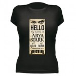 Camiseta My Name is Arya Stark