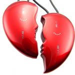 Mp3 con forma de corazón