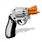 Atornillador con forma de revólver