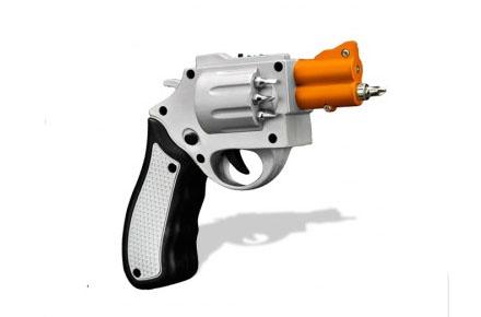 Atornillador con forma de revolver