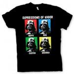 Camiseta con expresiones de Darth Vader