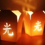 Portavelas con forma de cajas chinas