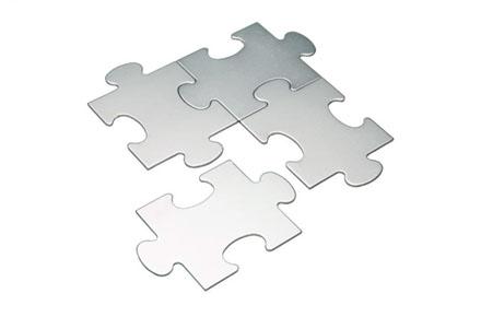 Posavasos con forma de puzzle
