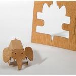 Postal de Madera Recortable Elefante