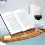 Bandeja para bañera con atril